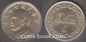 5 юань (доллар) 1988