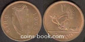 1 пенни 1968