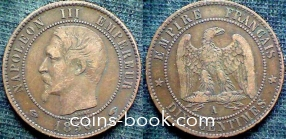 10 сантимов 1856