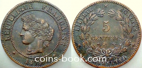 5 сантимов 1874