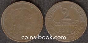 2 centimes 1911