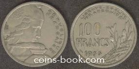 100 francs 1955