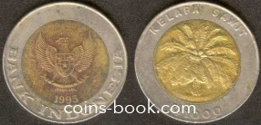1000 рупий 1995