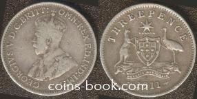 3 пенса 1911