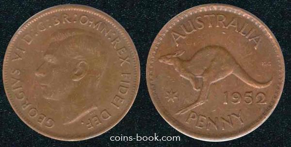 1 пенни 1952
