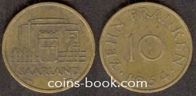 10 франков 1954