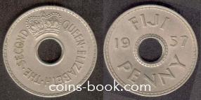1 пенни 1957