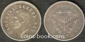 3 пенса 1950