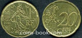 20 евроцентов 2001
