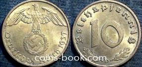 10 reichspfennig 1937