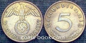 5 рейхспфеннигов 1937