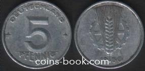 5 пфеннигов 1950