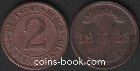 2 рентенпфеннига 1923