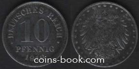 10 пфеннигов 1916