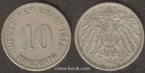 10 pfennig 1914