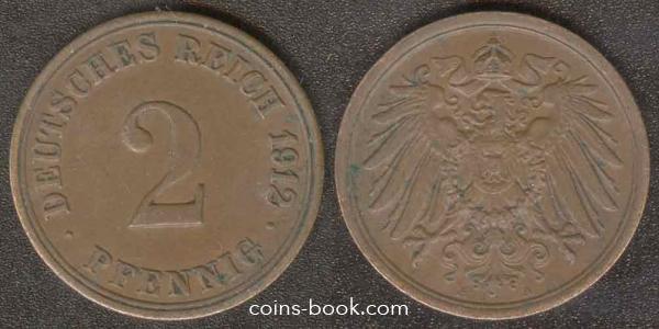 2 пфеннига 1912
