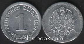 1 пфенниг 1917