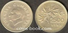 2 500 лир 1992