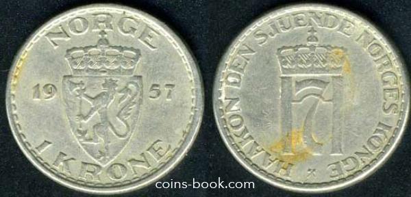 1 крона 1957