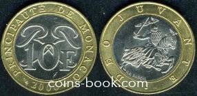10 франков 2000
