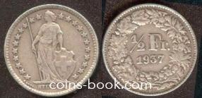 1/2 франка 1937