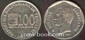 100 bolívares 2002