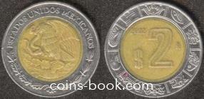 2 песо 2002