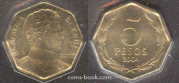 5 песо 2004