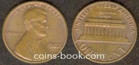 1 цент 1982