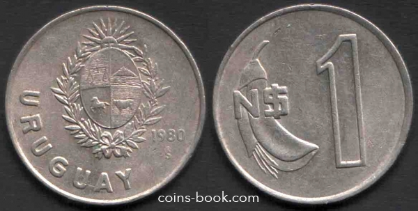 1 новый песо 1980