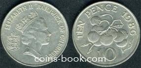 10 пенсов 1986