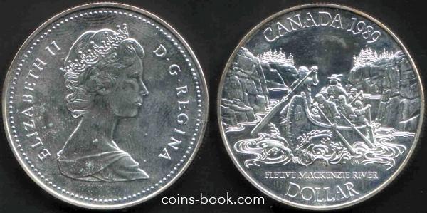 Каталог монет - 1 доллар 1989.