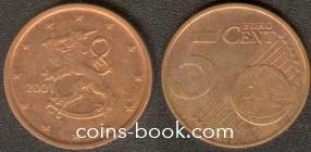5 евроцентов 2001