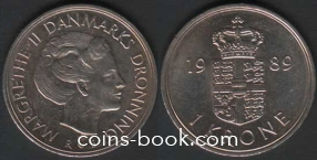 1 крона 1989
