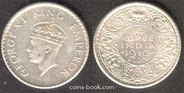 1/4 рупий 1940