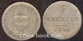 6 крейцер 1849