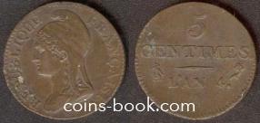 5 сантимов 1795