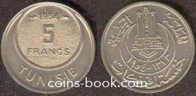 5 francs 1954