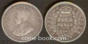 4 пенса 1917