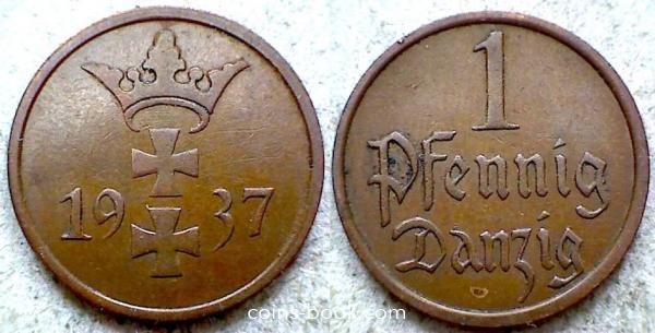 1 пфенниг 1937