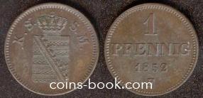 1 пфенниг 1852