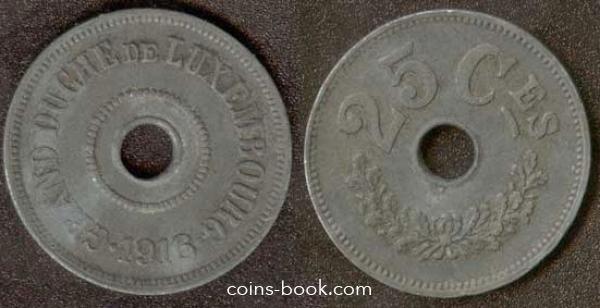 25 сантимов 1916