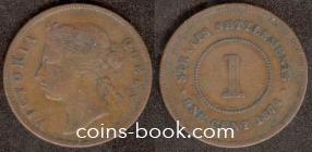 1 цент 1874