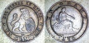 1 сентимо 1870