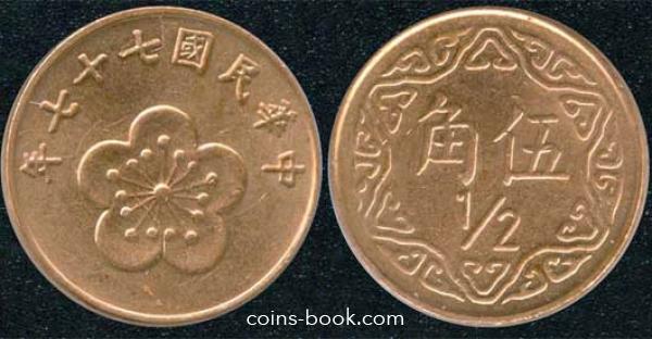 1/2 доллара 1988