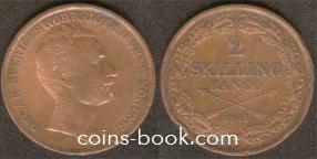 2 скиллинга 1845