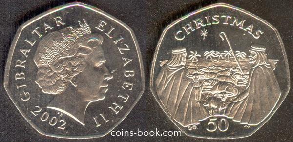 50 пенсов 2002