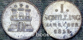 1 шиллинг 1855
