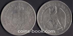 1 песо 1874