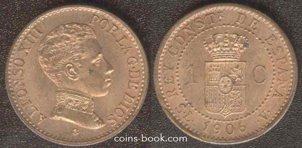 1 сентимо 1906